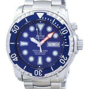 Ratio II Free Diver Helium-Safe 1000M Automatic 1068HA96-34VA-01 Men's Watch