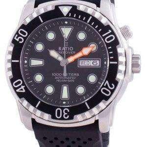Ratio FreeDiver Helium-Safe 1000M Sapphire Automatic 1068HA90-34VA-BLK Mens Watch