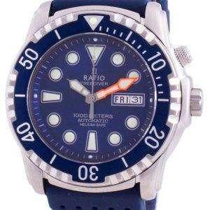 Ratio FreeDiver Helium-Safe 1000M Sapphire Automatic 1068HA90-34VA-BLU Mens Watch