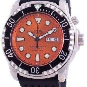 Ratio FreeDiver Helium-Safe 1000M Sapphire Automatic 1068HA90-34VA-ORG Mens Watch