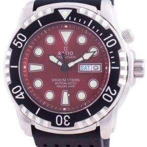 Ratio FreeDiver Helium-Safe 1000M Sapphire Automatic 1068HA90-34VA-RED Mens Watch