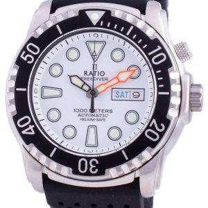 Ratio FreeDiver Helium-Safe 1000M Sapphire Automatic 1068HA90-34VA-WHT Mens Watch