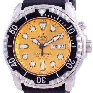 Ratio 2nd Generation Free Diver Helium-Safe Automatic 1068HA90-34VA-YLW-V02 1000M Mens Watch