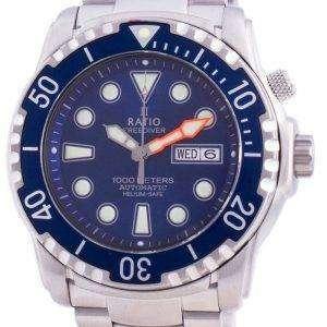 Ratio FreeDiver Helium-Safe 1000M Sapphire Automatic 1068HA96-34VA-BLU Mens Watch