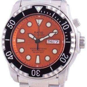 Ratio FreeDiver Helium-Safe 1000M Sapphire Automatic 1068HA96-34VA-ORG Mens Watch