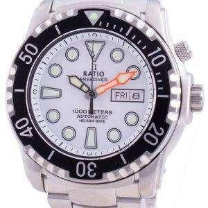 Ratio FreeDiver Helium-Safe 1000M Sapphire Automatic 1068HA96-34VA-WHT Mens Watch