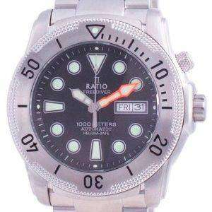 Ratio Free Diver Helium-Safe Automatic 1068MD96-34VA-BLK 1000M Mens Watch