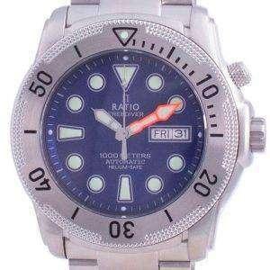 Ratio Free Diver Helium-Safe Automatic 1068MD96-34VA-BLU 1000M Mens Watch