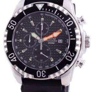 Ratio 200M Diver Quartz Chronograph Sapphire 48HA90-17-CHR-BLK Mens Watch