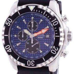 Ratio 200M Diver Quartz Chronograph Sapphire 48HA90-17-CHR-BLU Mens Watch